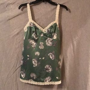 The Limited Tops - The Limited Silk Cotton blend blouse green floral